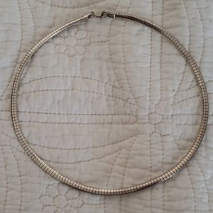 """Sterling silver 5mm 16"""" omega chain."""